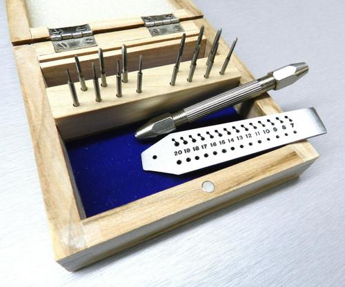 Mini Tap and Die Set 14 Taps & Screw Plate 0.7-2mm + Pin Vise Thread Making Set