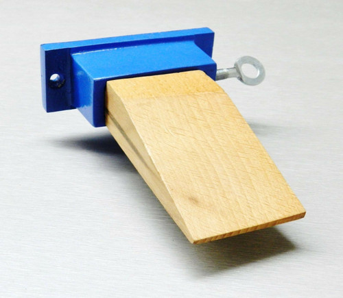 Jewelers Bench Pin Attachment Wood and Metal Anvil Holder