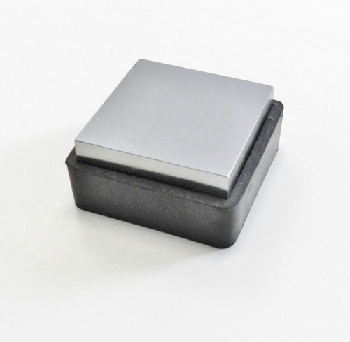 """Steel Bench Block W/ Rubber Base 2-1/2 x1"""" Anvil & Rubber Jewelry Forming Tool"""