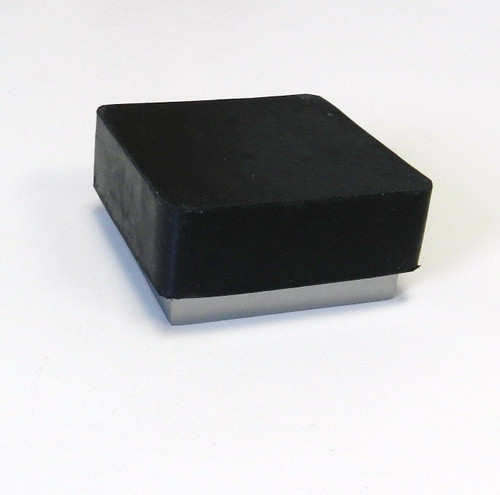 "Steel Bench Block with Rubber Base 2-1/2 x 1"" Jewelry Forming Tool"