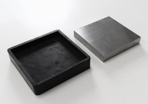"""Steel Bench Block with Rubber Base 4"""" Jewelry Forming Tool"""