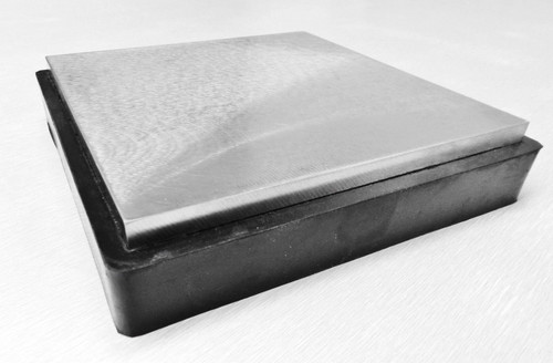 """Steel Bench Block with Rubber Base 6 x 6"""" Jewelry Forming Tool"""