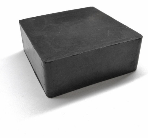 "Rubber Block Bench 2"" x 2"" Square 1"" Thick Base for Steel Block Dapping"