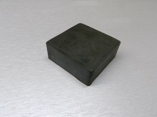 "Rubber Block Bench 2-1/2"" x 2-1/2"" Square 1"" Thick  Base for Steel Block Dapping"