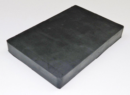 "Rubber Block Bench 4"" x 6"" Square 3/4"" Thick Base for Steel Block Dapping"