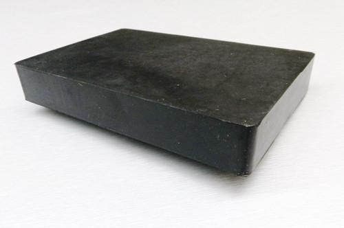 "Rubber Block Bench 4"" x 6"" Square 1"" Thick Base for Steel Block Dapping"