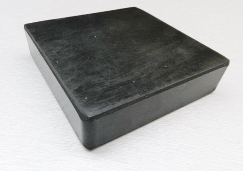 "Rubber Block Bench 4"" x 4"" Square 1"" Thick  Base for Steel Block Dapping"