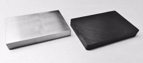"4 x 6"" Steel Block and 4 x 6"" Rubber Set Jewelry Dapping Forming"