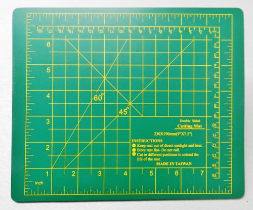 """Cutting Mat Self-Healing Board 9"""" x 7-1/2"""" Craft Hobby Art Supplies Double Sided"""