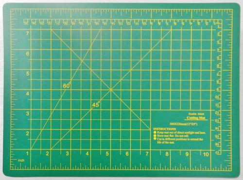 """Cutting Mat Double Sided 11-3/4"""" x 8-5/8"""" Self-Healing Board Matt Craft Hobby Art Supplies"""