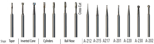 AK210 Miniature Carbide Kit, 14-Pc Assorted Shapes, 2.35mm (3/32″) shank