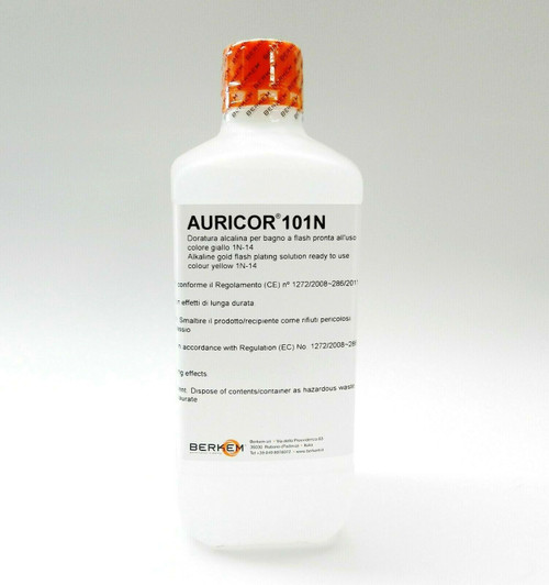 14K Yellow Gold Plating Solution AURICOR 101N 14 Karat Electroplating