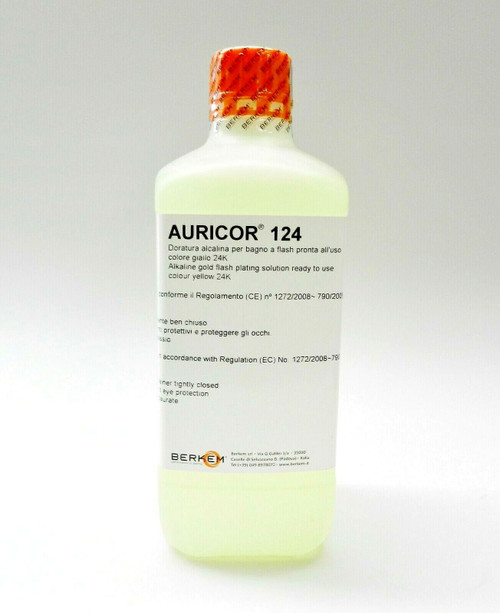24K Yellow Gold Plating Solution AURICOR 124 24 Karat Electroplating