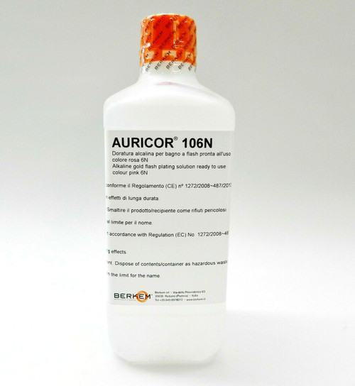 Rose Gold Plating Solution AURICOR 106N Pink Electroplating