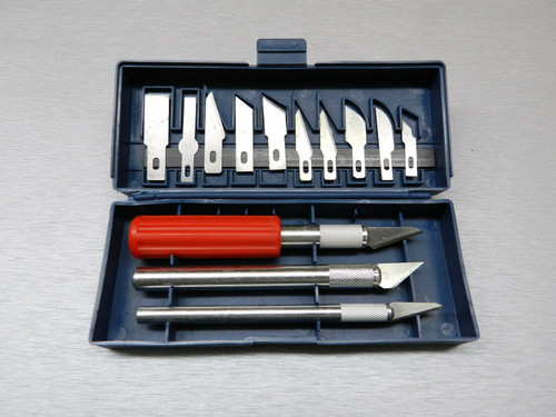 16-Piece Hobby Knife Set with Aluminum Collet Chucks