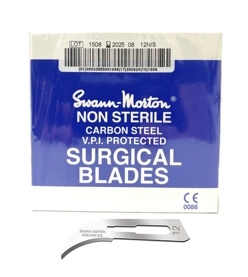 Swann-Morton #12 Curved Jewelry Rubber Mold Cutting Blades per Pack of 100