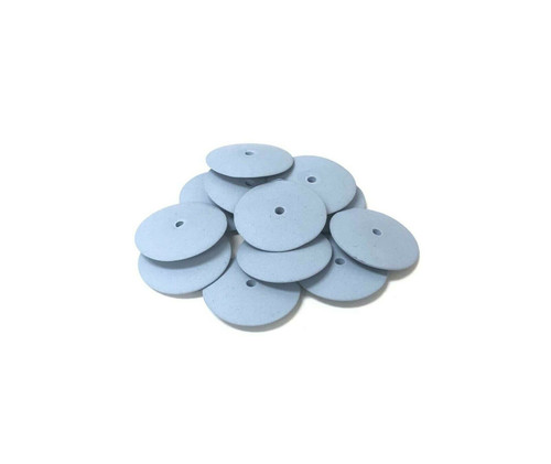 "EVE Knife Edge Silicone Polisher Wheels 5/8"" Blue Fine Pack of 10"