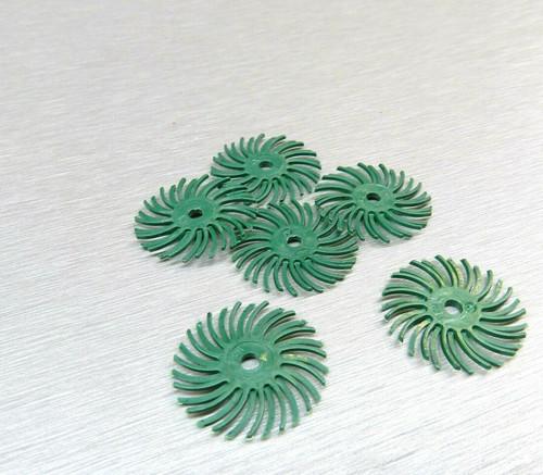 "3M Radial Bristle Discs Green 80 Grit Brush 1"""