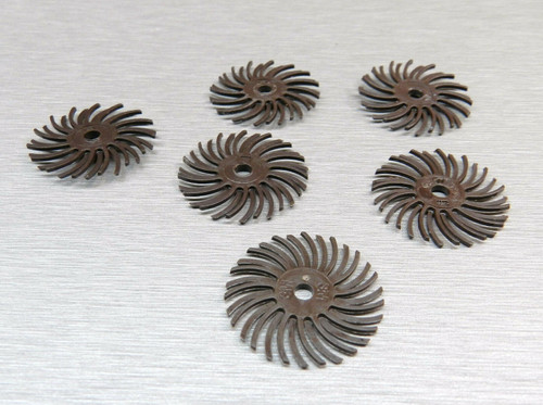 "3M Radial Bristle Discs Brown 36 Grit Brush 1"""