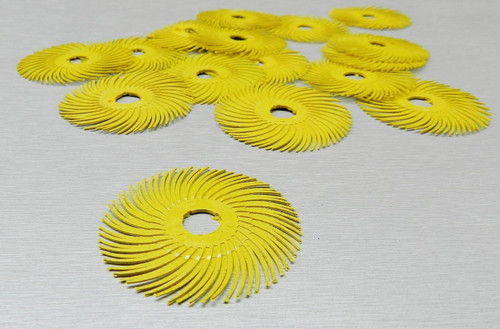 "3M Radial Bristle Discs Yellow 80 Grit Brush 2"""