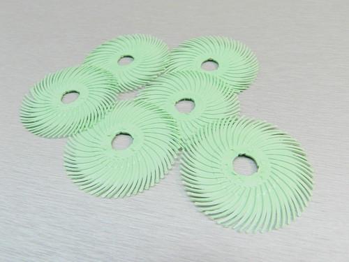 "3M Radial Bristle Discs Light Green 1 Micron Brush 2"""