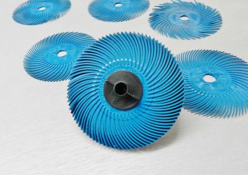 """3M Radial Bristle Discs  Blue 400 Grade Brush 3"""""""