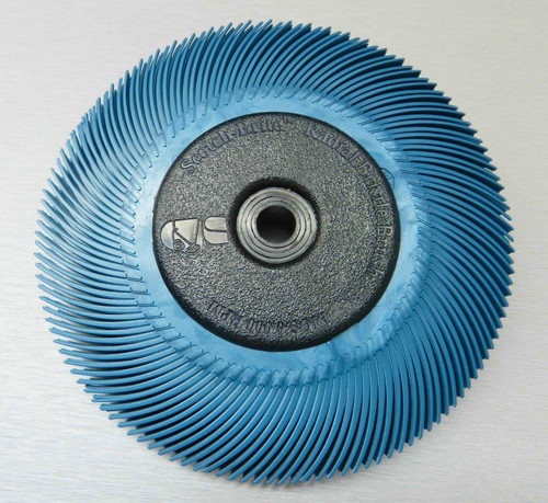 "3M Radial Bristle Disc Blue 400 Grit Brush 6"""