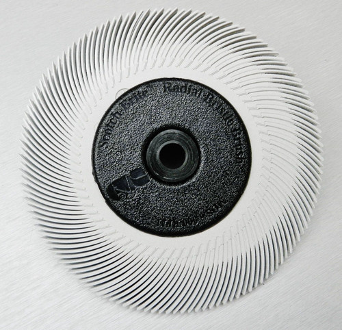 "3M Radial Bristle Disc White 120 Grit Brush 6"""