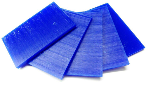 "Ferris Carving Wax Tablets Blue Wax 5/16"" Thick 6""x3-5/8"" Flat Bars"