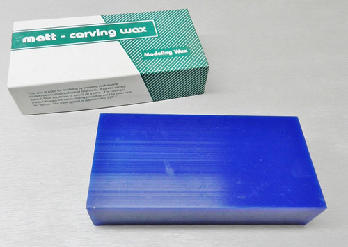 Matt Block Carving Wax 1 Pound Blue Jewelry Model Making