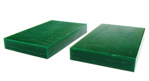 """Ferris Wax Carving Wax Tablets Green 3/4"""" Thick Hard 6"""" x 3-5/8"""" Flat Bars 2 pc"""