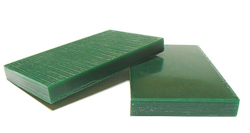 "Ferris Carving Wax Tablets Green 3/4"" Thick Hard Flat Bars 2 pcs"