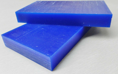 "Ferris Carving Wax Tablets Blue 3/4"" Thick Hard Flat Bars 2 pcs"