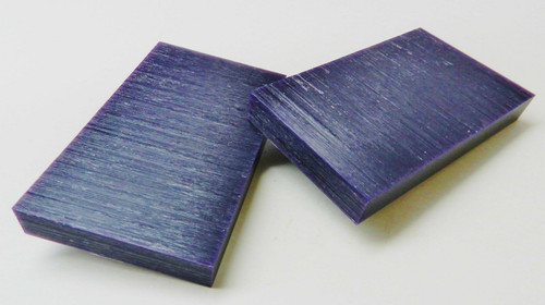 "Ferris Carving Wax Tablets Purple 3/4"" Thick Hard Flat Bars 2 pcs"