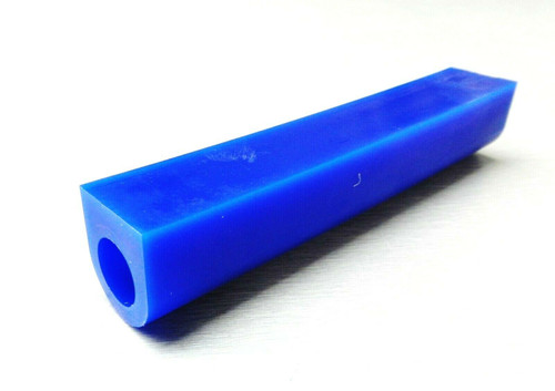 "Carving Wax Ring Tube 1-1/8"" x 1"" x 5/8"" off-centered hole Blue Soft Ferries Wax"