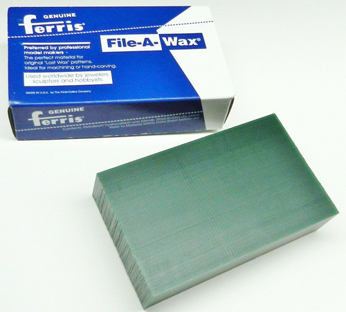 Carving Wax Ferris File-A-Wax Block Green 1 Pound Jewelry Model Making Wax