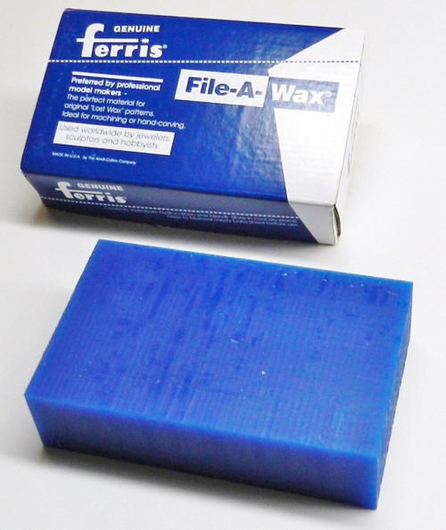 Carving Wax Ferris File-A-Wax Block Blue 1 Pound Jewelry Model Making Wax