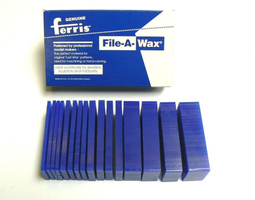 Ferris Carving Wax Assortment Slices Blue 1 Lb.