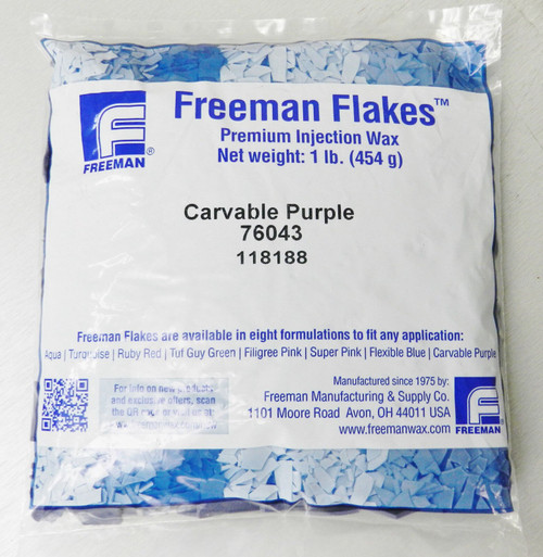 Freeman Carvable Purple Flake Wax Jewelry Injection Lost Wax Casting 1 Pound