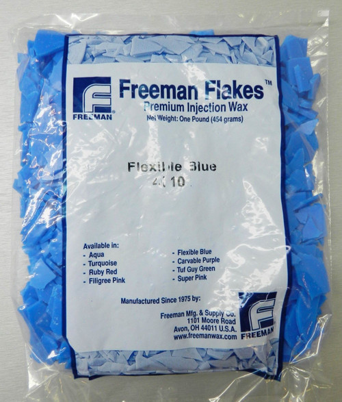 Freeman Flakes Injection Wax Flexible Blue Wax Jewelry Lost Wax Casting 1 Pound