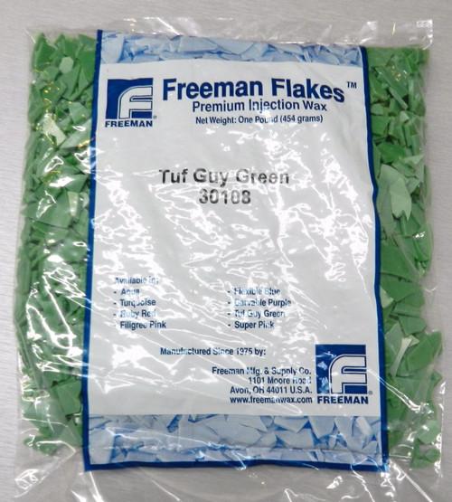 Jewelry Injection Wax Freeman TUF Guy Green High Flexibility Wax Casting 1Lb Bag