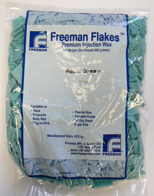 Lost Wax Injection Waxes Aqua Green Freeman Flake Wax Jewelry Making Casting 1Lb
