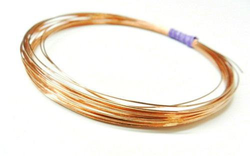 22 Gauge Copper Wire Dead Soft Coil Pure Round Copper Wire 25 FT
