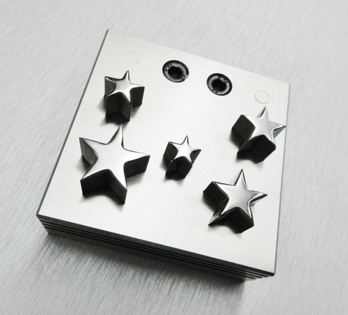 Disc Cutter Star Shape 5 Sizes Punches Gold Silver Metal Jewelry Cut 11 - 20mm