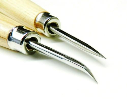 "Burnisher Curved & Straight Blade 2"" Burnishing Tool Set Jewelry Setting Bezel"