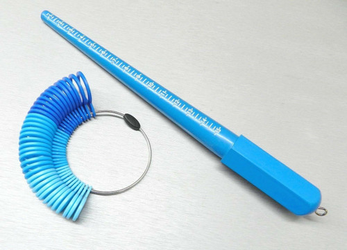 Plastic Ring Sizer Stick and Finger Measuring Gauge Set