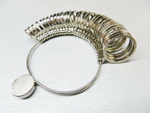 Metal Finger Ring Size Measuring Gauge Jewelry Making Tool Sizer 1-15 Graduated