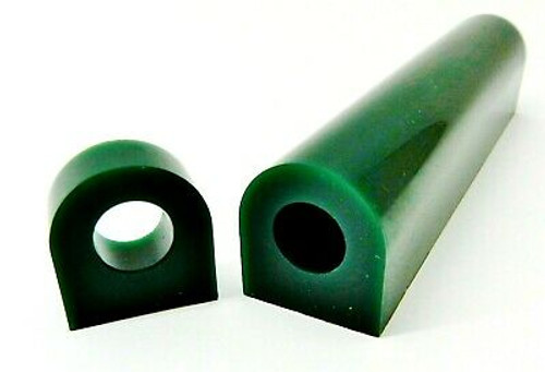 "Carving Wax Ring Tube Flat Top Ferris Green 1-1/8"" High x 1-1/8"" Wide with 5/8"" Off-centered Hole"
