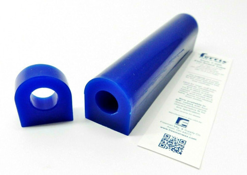 """Carving Wax Ring Tube Flat Top Ferris Blue 1-5/16"""" High x 1-3/16"""" Wide with 5/8"""" Off-centered Hole"""