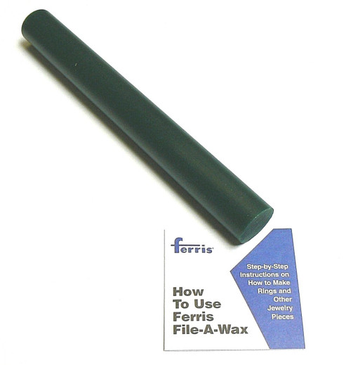 "Ferris® Solid Round Bar Green Hard Carving Wax 1-5/16"" Diameter x 11-1/4"" Long"